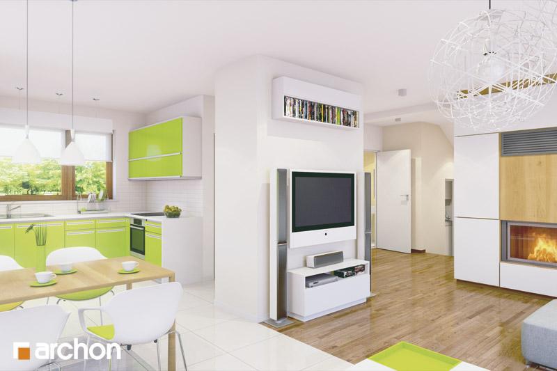 Проект будинку ARCHON+ Будинок у вербені (Н) вер.2 денна зона (візуалізація 2 від 3)