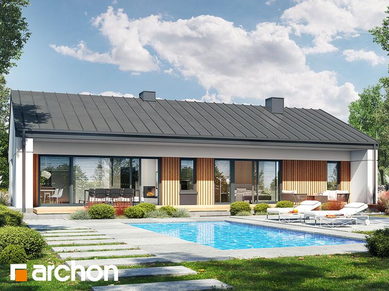 Проект будинку ARCHON+ Будинок в нарахнілах (Г) Вид 1