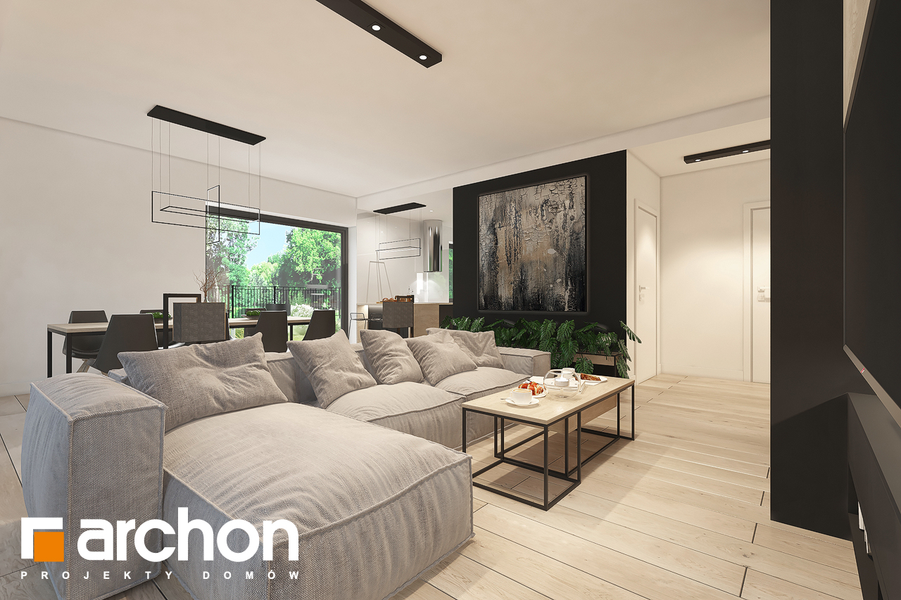 Проект будинку ARCHON+ Будинок в нарахнілах (Г) денна зона (візуалізація 1 від 1)