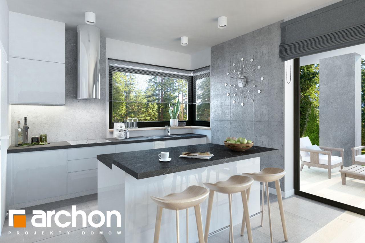 Проект будинку ARCHON+ Будинок в пепероміях денна зона (візуалізація 1 від 5)