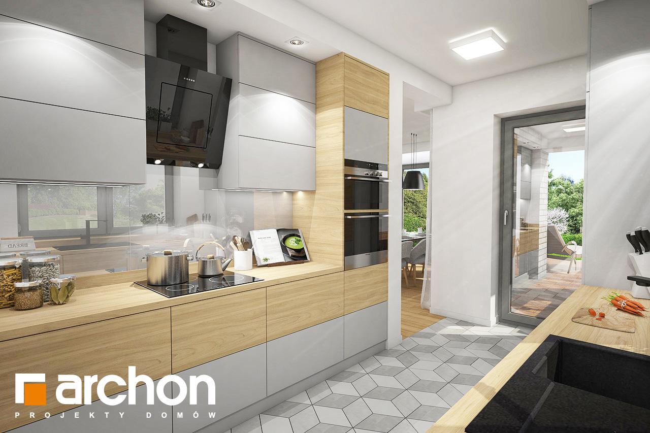 Проект будинку ARCHON+ Будинок в ізопірумі 3 візуалізація кухні 1 від 1