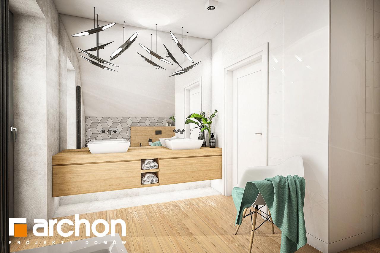 Проект будинку ARCHON+ Будинок в ізопірумі 3 візуалізація ванни (візуалізація 3 від 1)