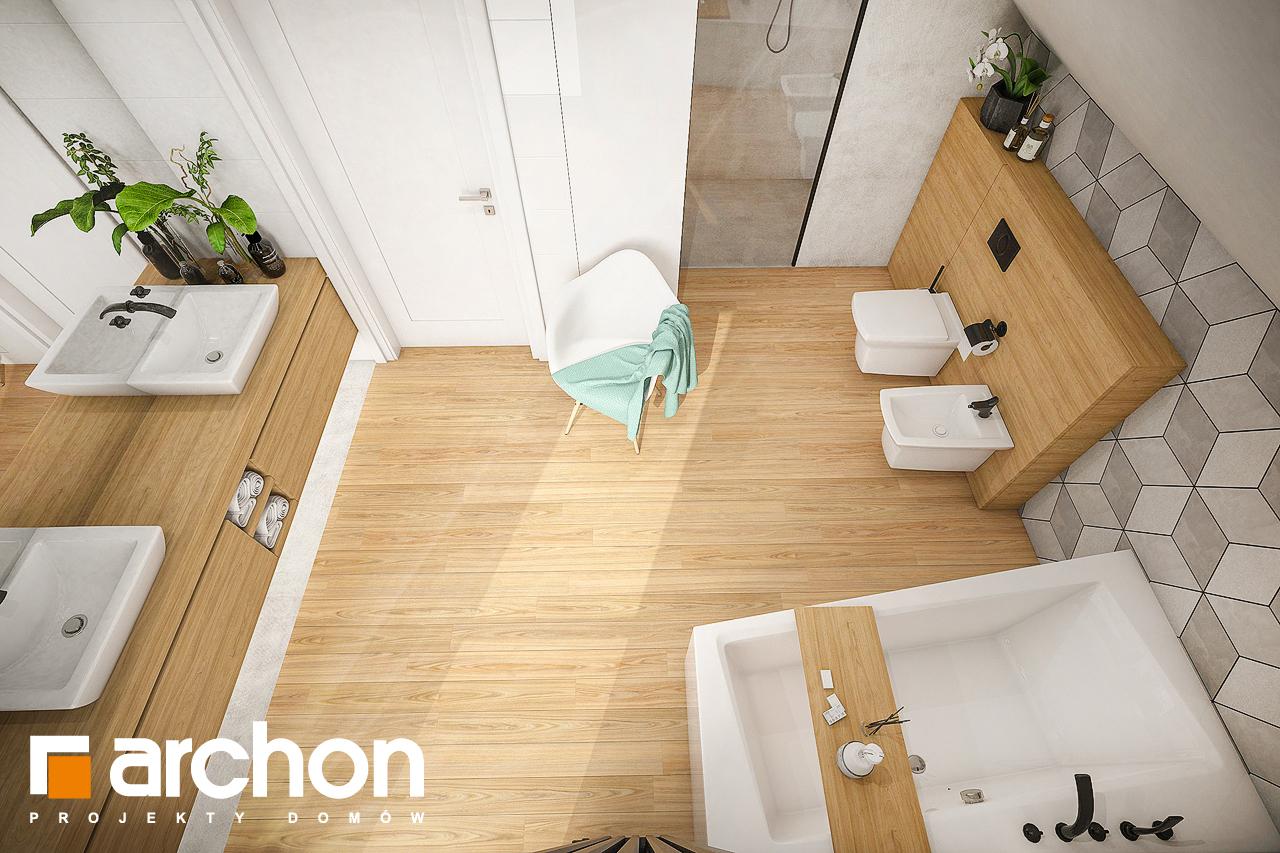 Проект будинку ARCHON+ Будинок в ізопірумі 3 візуалізація ванни (візуалізація 3 від 4)