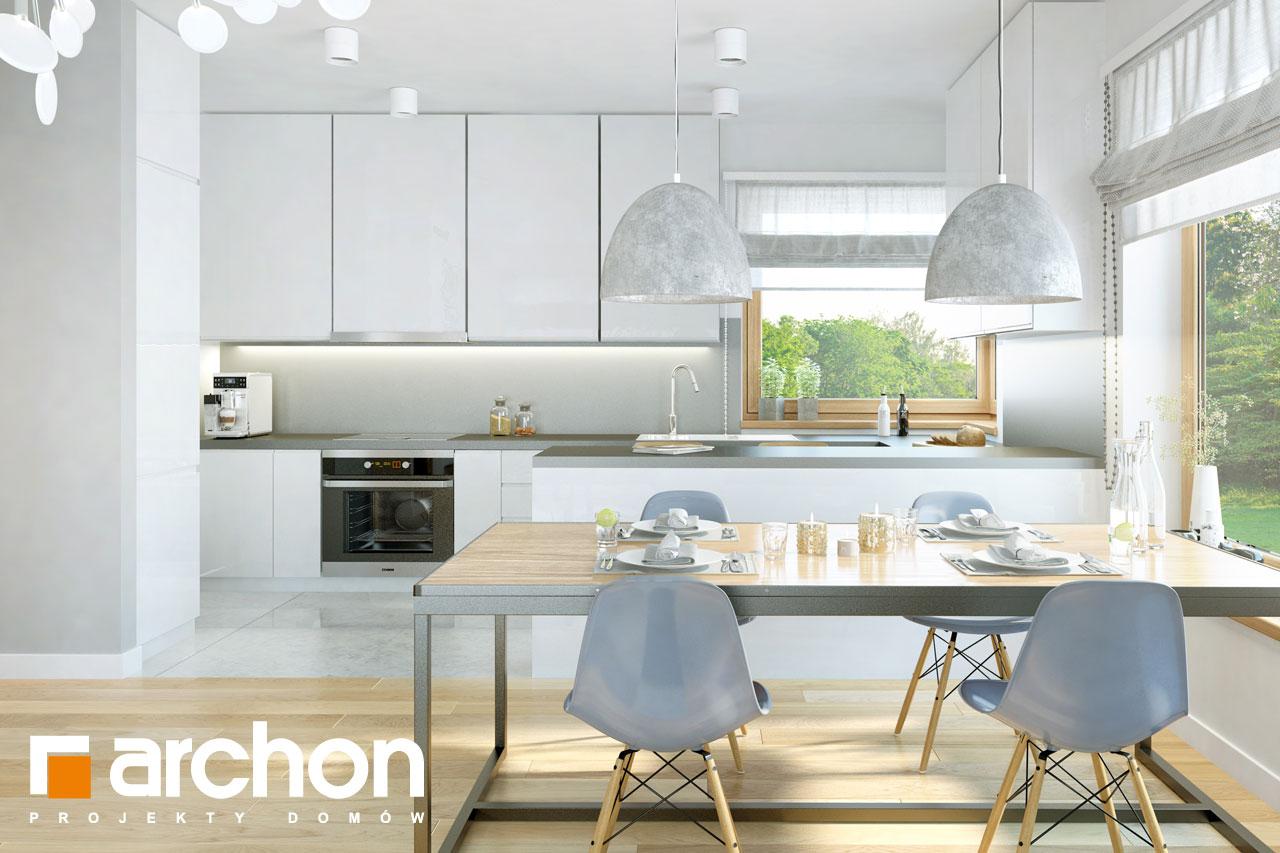 Проект будинку ARCHON+ Будинок в хризантемах (А) візуалізація кухні 1 від 1