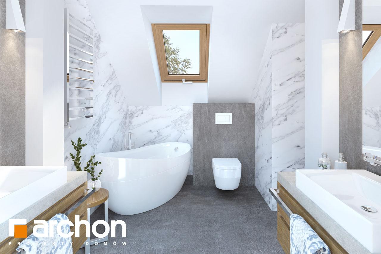 Проект будинку ARCHON+ Будинок в хризантемах (А) візуалізація ванни (візуалізація 3 від 1)