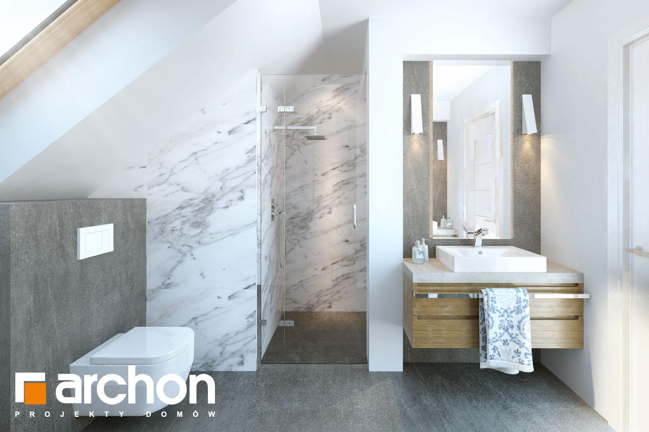 Проект будинку ARCHON+ Будинок в хризантемах (А) візуалізація ванни (візуалізація 3 від 2)