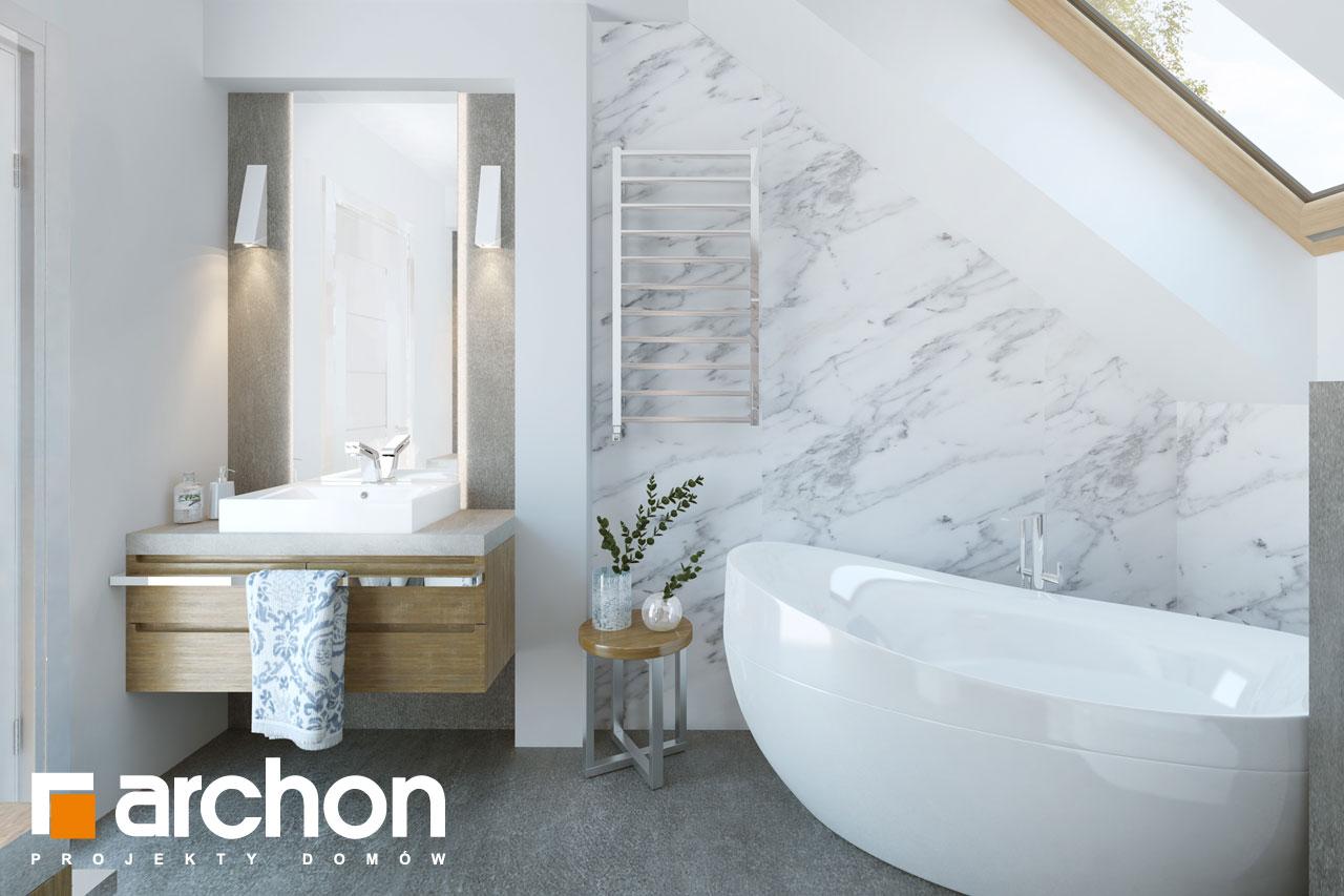 Проект будинку ARCHON+ Будинок в хризантемах (А) візуалізація ванни (візуалізація 3 від 3)
