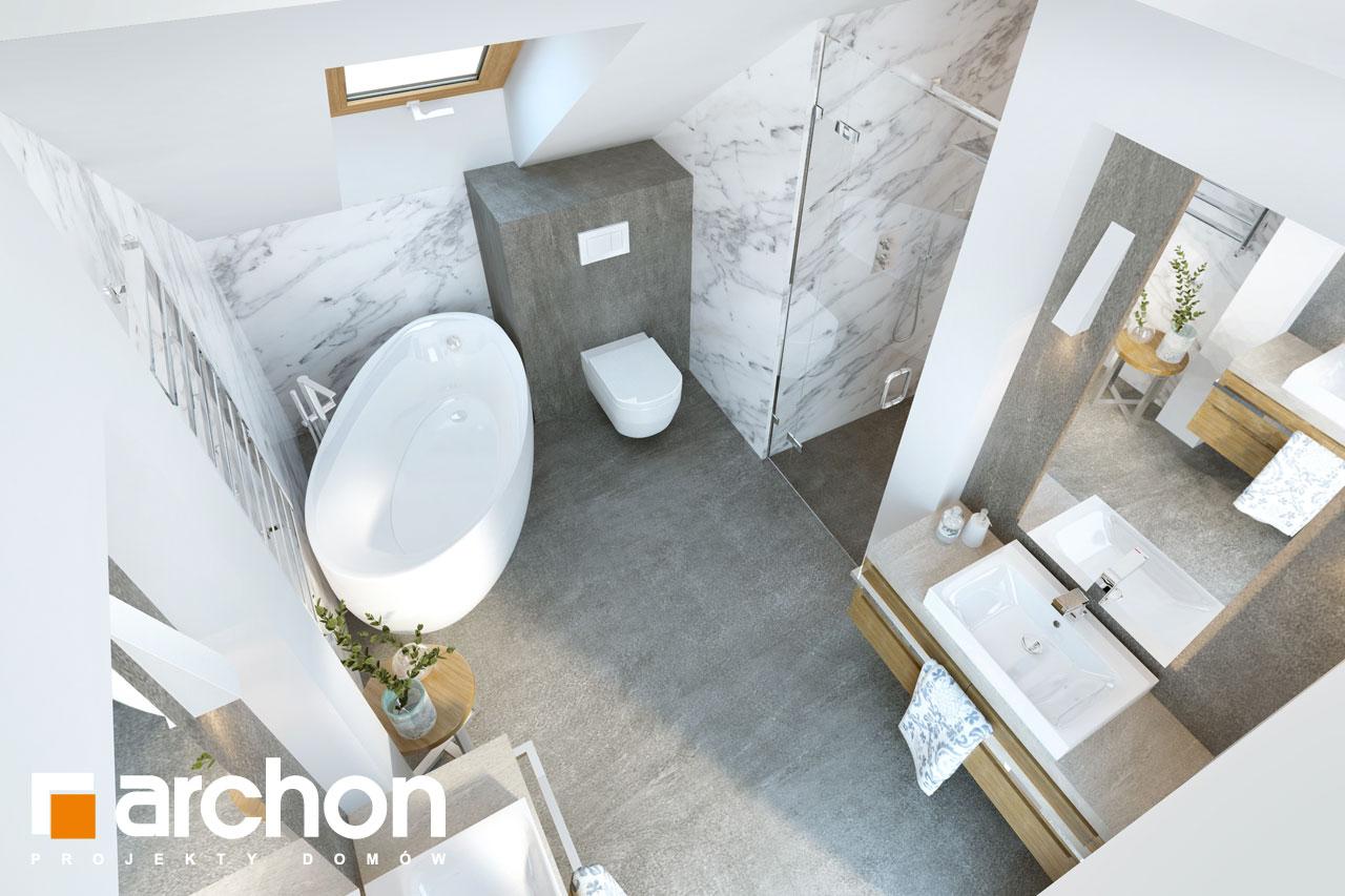 Проект будинку ARCHON+ Будинок в хризантемах (А) візуалізація ванни (візуалізація 3 від 4)