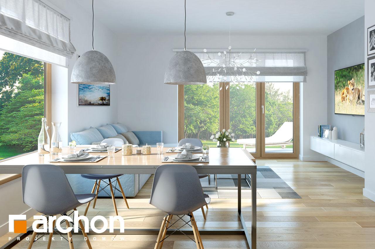 Проект будинку ARCHON+ Будинок в хризантемах (А) денна зона (візуалізація 1 від 3)