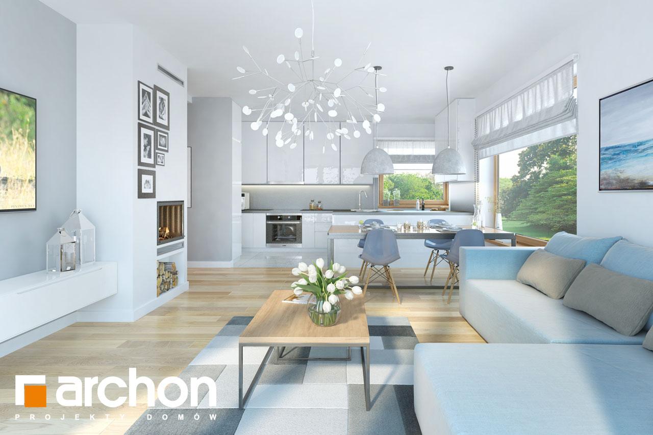 Проект будинку ARCHON+ Будинок в хризантемах (А) денна зона (візуалізація 1 від 1)
