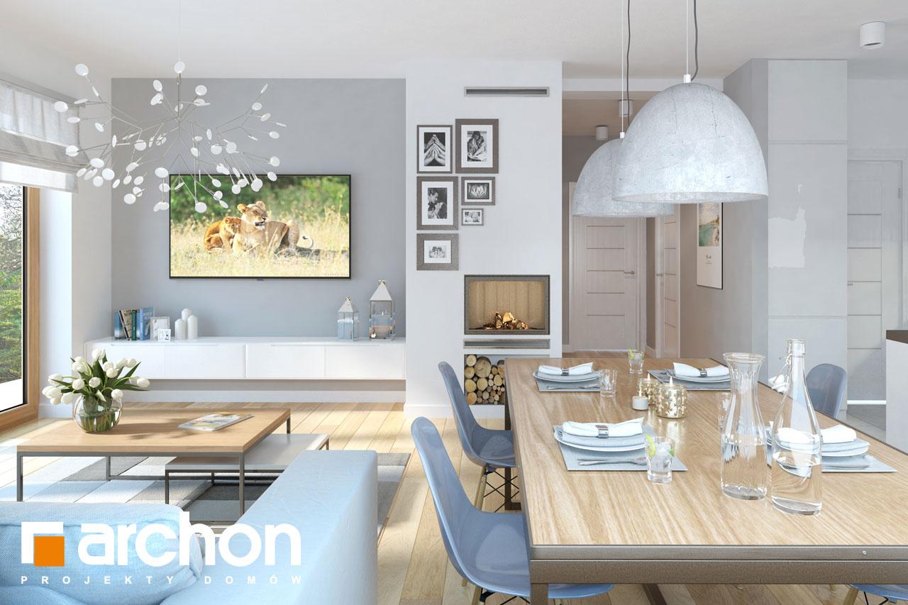 Проект будинку ARCHON+ Будинок в хризантемах (А) денна зона (візуалізація 1 від 2)