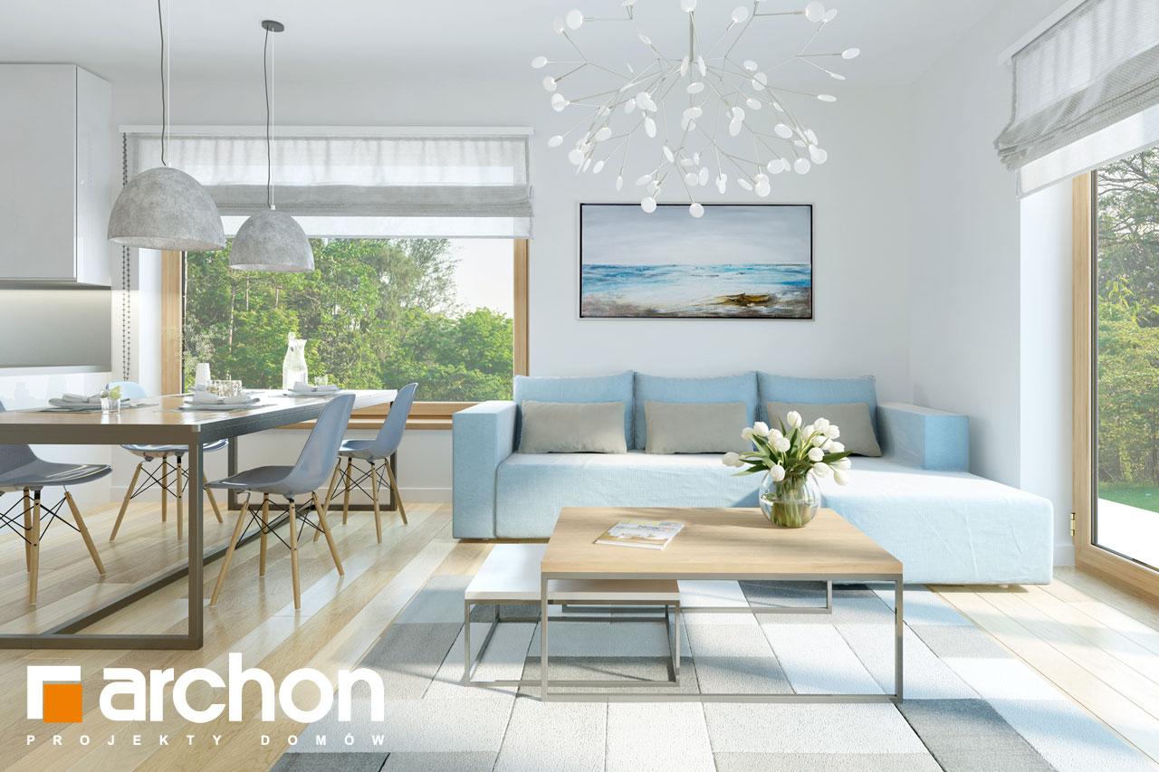 Проект будинку ARCHON+ Будинок в хризантемах (А) денна зона (візуалізація 1 від 4)