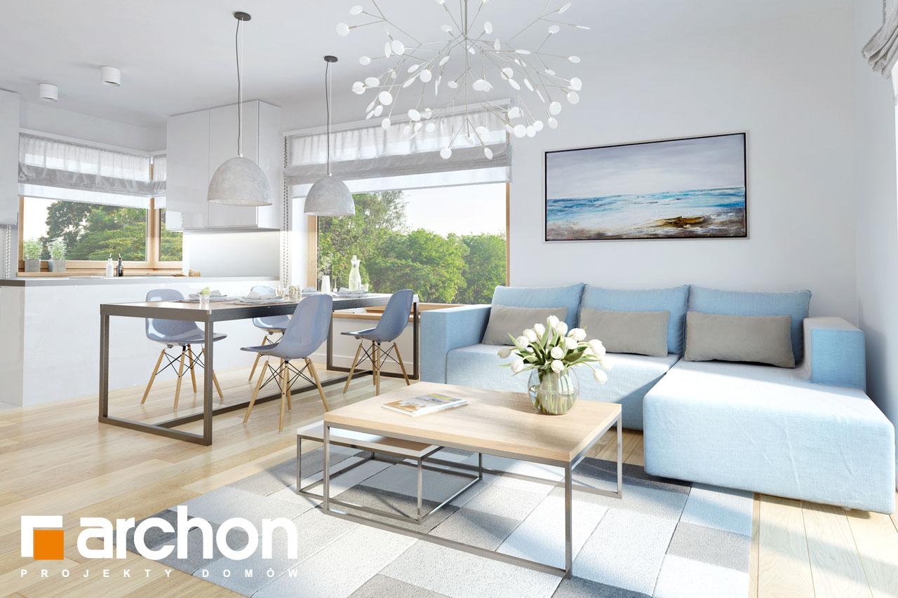 Проект будинку ARCHON+ Будинок в хризантемах (А) денна зона (візуалізація 1 від 5)