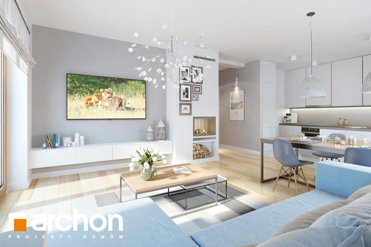 Проект будинку ARCHON+ Будинок в хризантемах (А) денна зона (візуалізація 1 від 6)
