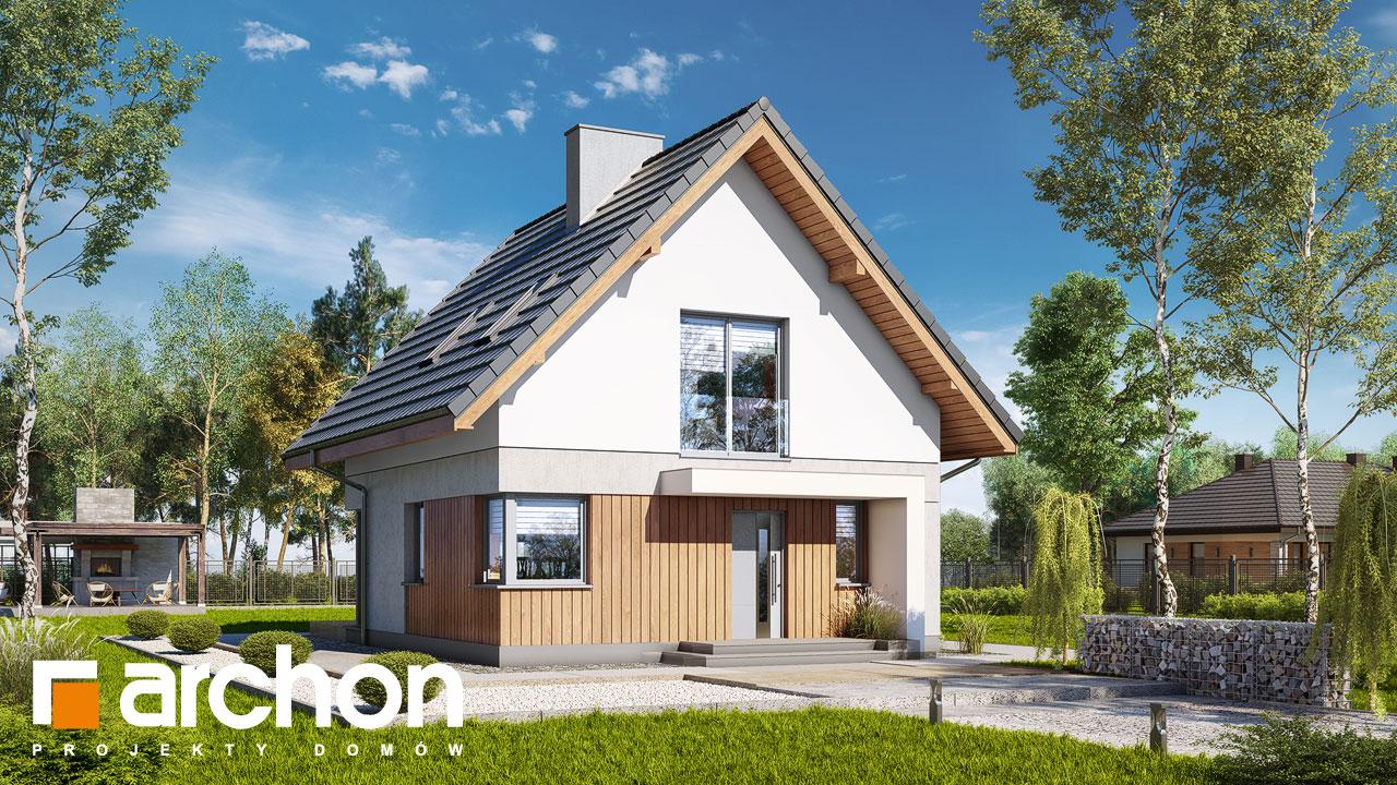 Проект будинку ARCHON+ Будинок на пагорбі (Н) стилізація 3