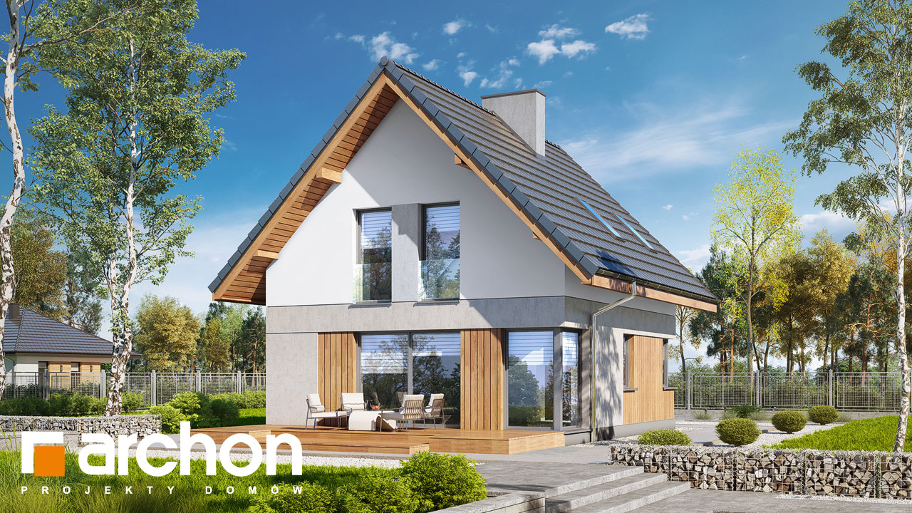 Проект будинку ARCHON+ Будинок на пагорбі (Н) стилізація 4