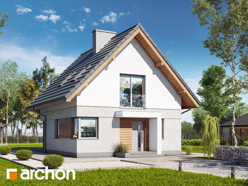 Проект будинку ARCHON+ Будинок на пагорбі (Н) Вид 1