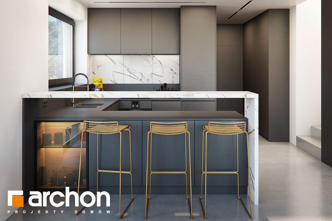 Проект будинку ARCHON+ Будинок в папаверах  візуалізація кухні 1 від 1