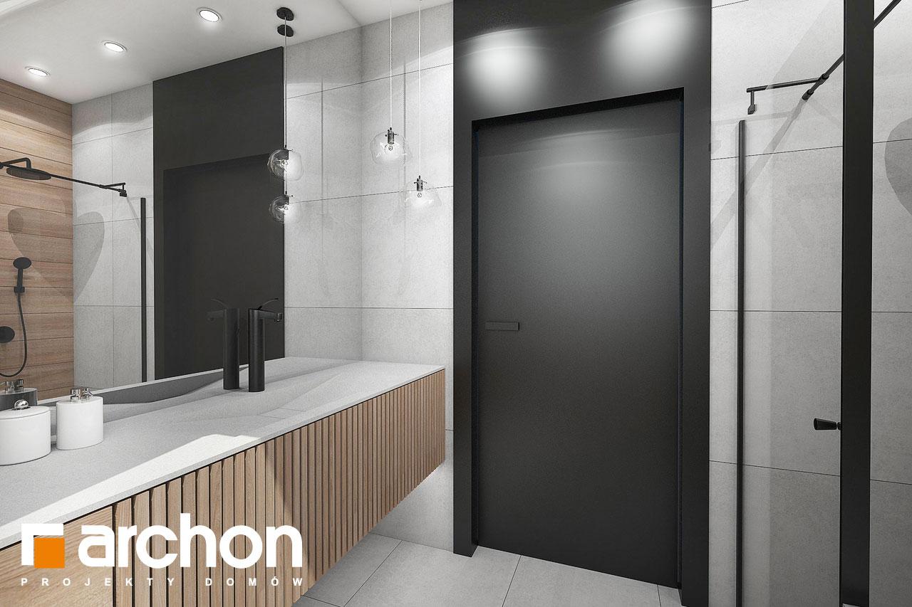 Проект будинку ARCHON+ Будинок в папаверах  візуалізація ванни (візуалізація 3 від 2)