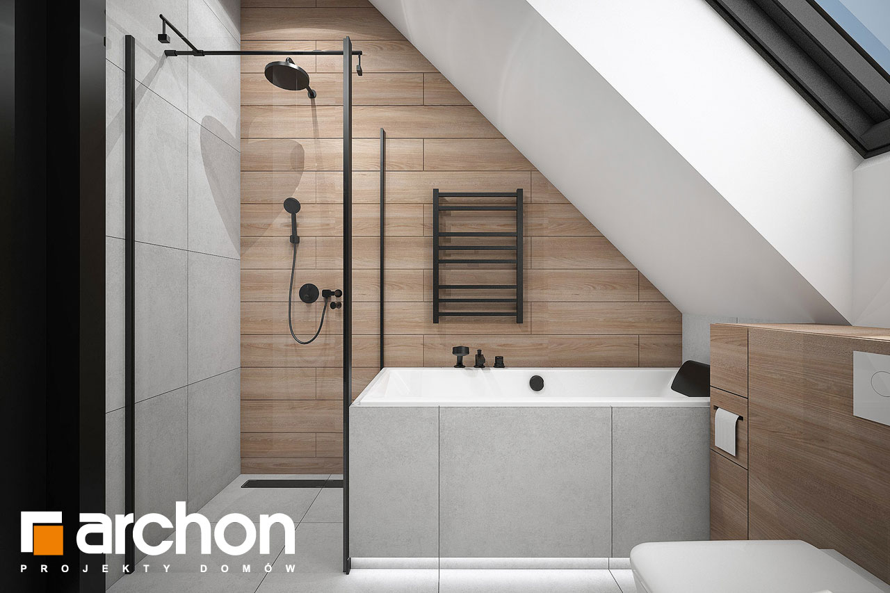 Проект будинку ARCHON+ Будинок в папаверах  візуалізація ванни (візуалізація 3 від 3)