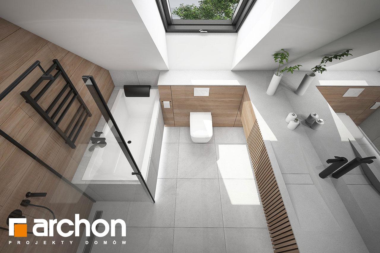 Проект будинку ARCHON+ Будинок в папаверах  візуалізація ванни (візуалізація 3 від 4)