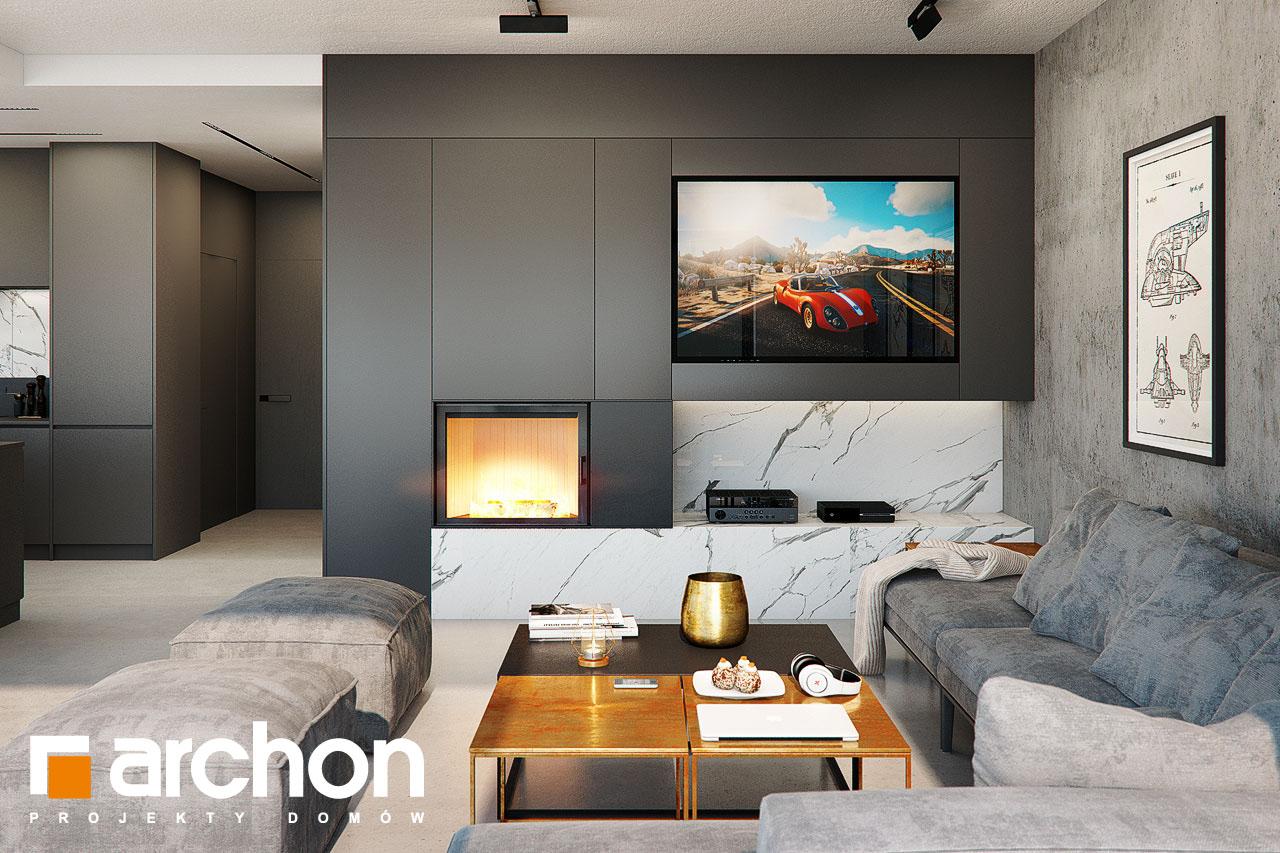 Проект будинку ARCHON+ Будинок в папаверах  денна зона (візуалізація 1 від 1)