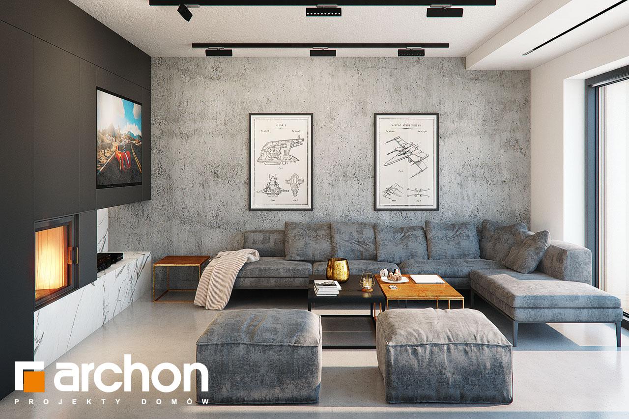 Проект будинку ARCHON+ Будинок в папаверах  денна зона (візуалізація 1 від 2)