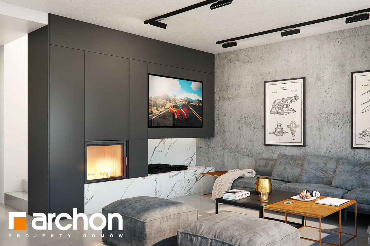Проект будинку ARCHON+ Будинок в папаверах  денна зона (візуалізація 1 від 3)
