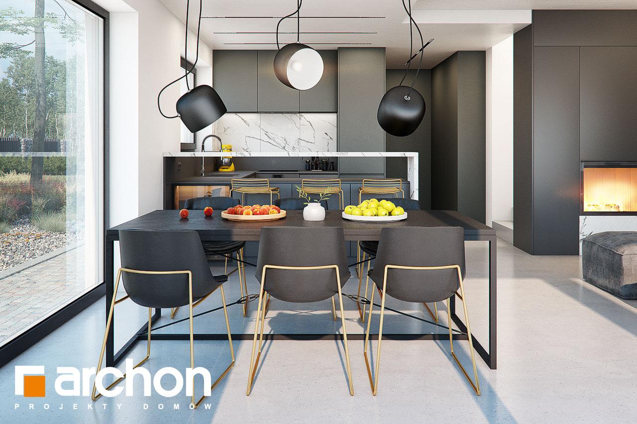 Проект будинку ARCHON+ Будинок в папаверах  денна зона (візуалізація 1 від 6)