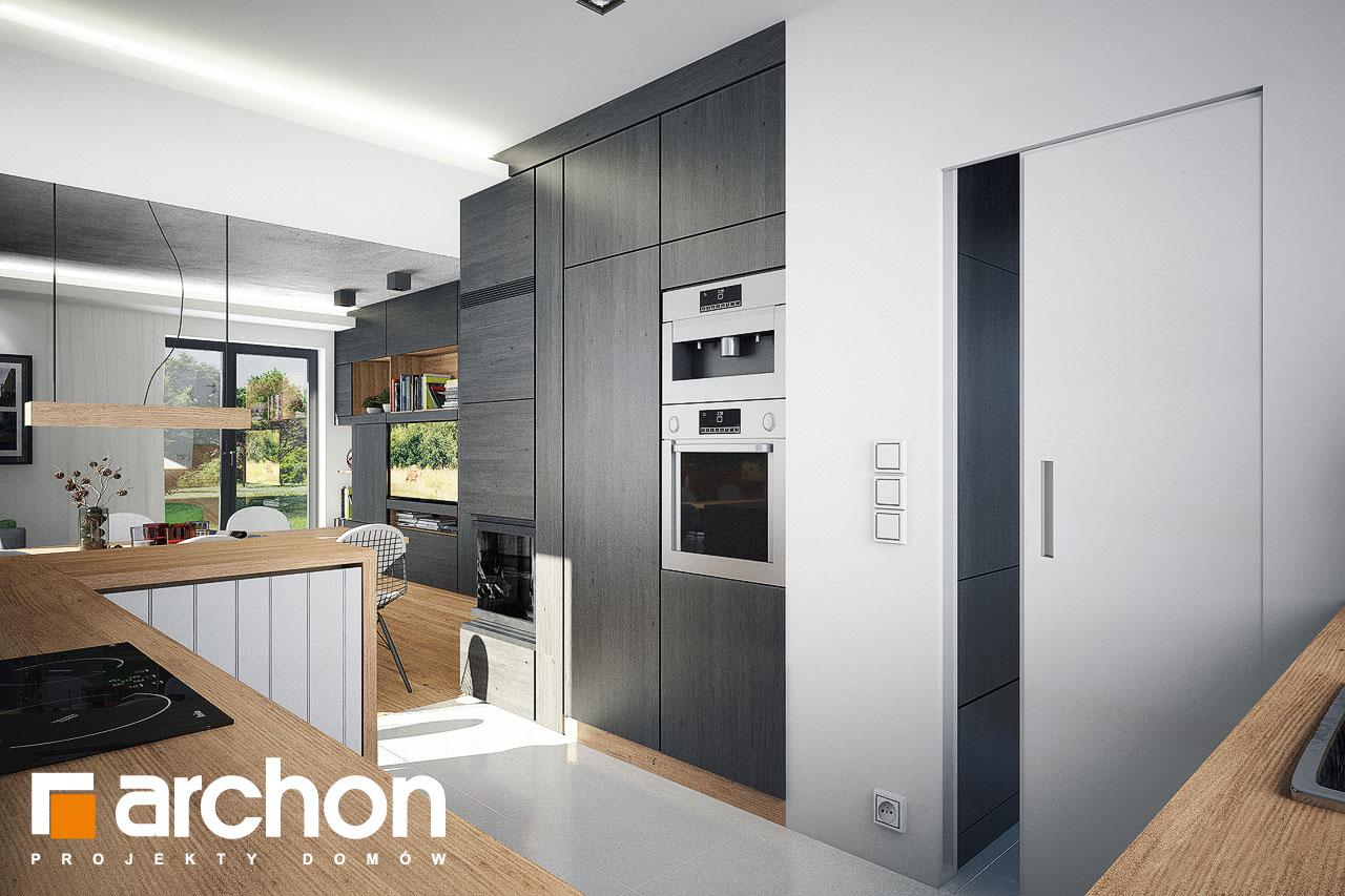 Проект дома ARCHON+ Дом в рододендронах 21 (H) визуализация кухни 1 вид 1