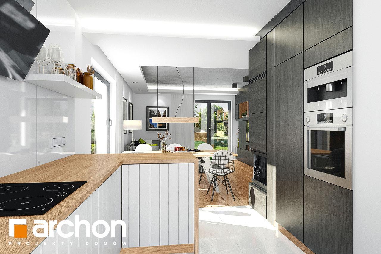 Проект дома ARCHON+ Дом в рододендронах 21 (H) визуализация кухни 1 вид 2