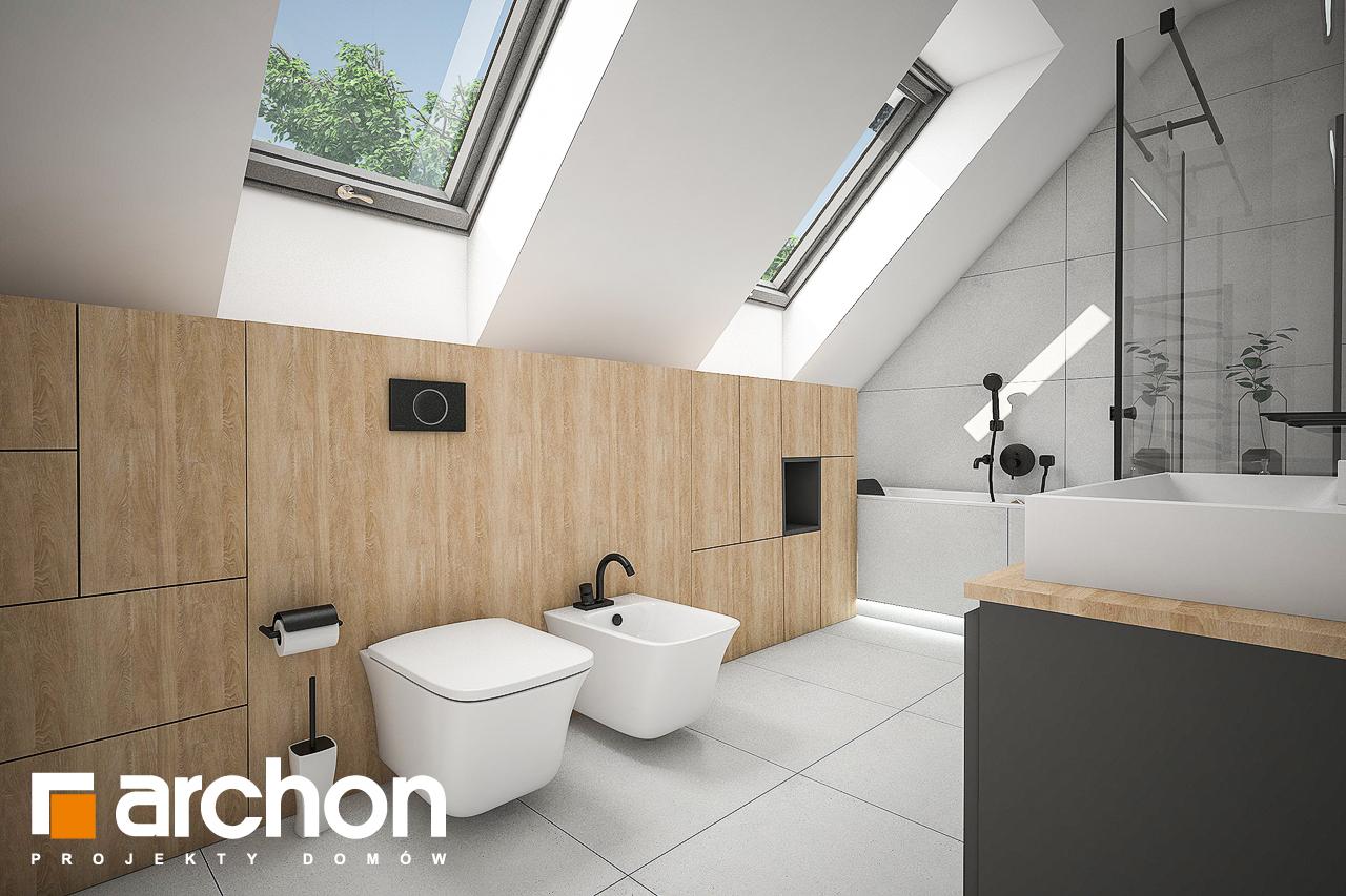 Проект дома ARCHON+ Дом в рододендронах 21 (H) визуализация ванной (визуализация 3 вид 1)