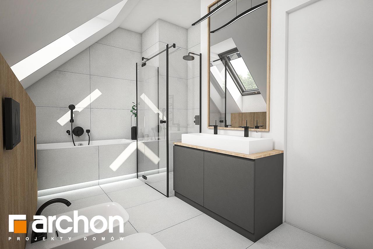 Проект дома ARCHON+ Дом в рододендронах 21 (H) визуализация ванной (визуализация 3 вид 3)