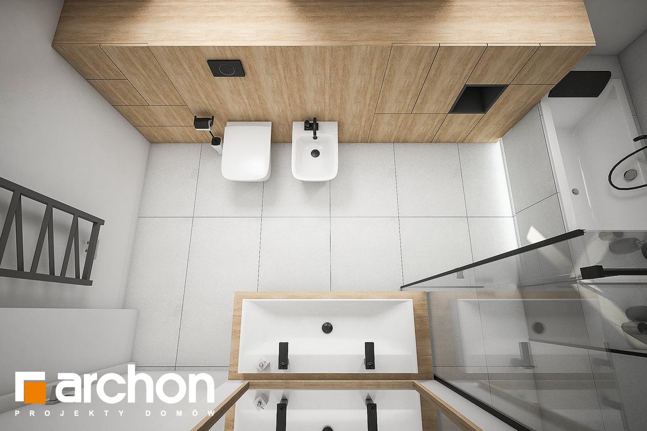 Проект дома ARCHON+ Дом в рододендронах 21 (H) визуализация ванной (визуализация 3 вид 4)