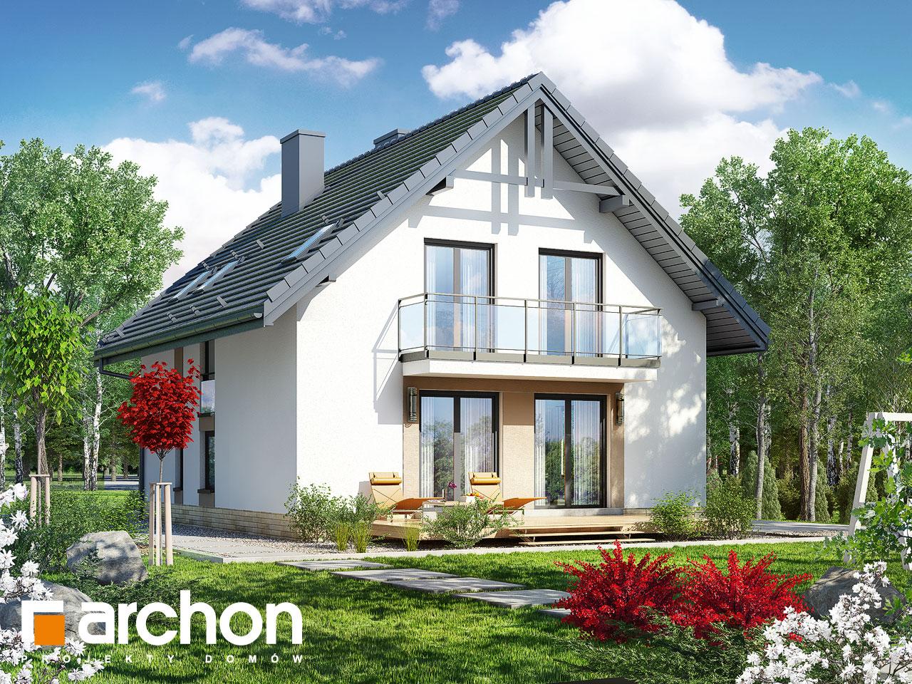 Проект дома ARCHON+ Дом в рододендронах 21 (H) Вид 2