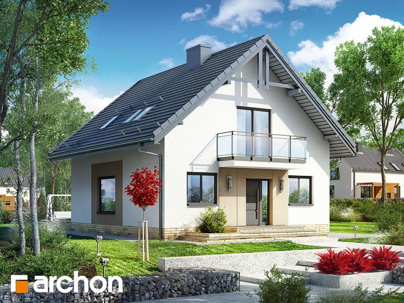 Проект дома ARCHON+ Дом в рододендронах 21 (H) Вид 1