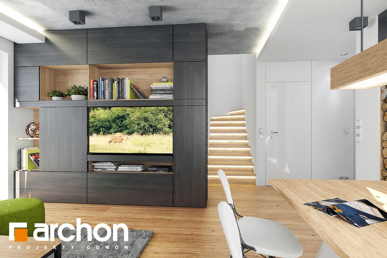 Проект дома ARCHON+ Дом в рододендронах 21 (H) дневная зона (визуализация 1 вид 2)