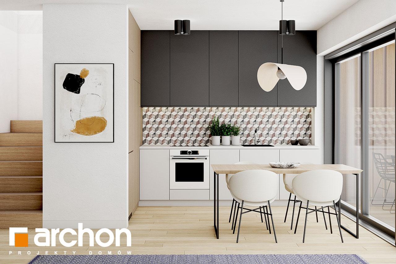 Проект дома ARCHON+ Летний домик в голокучнике визуализация кухни 1 вид 1