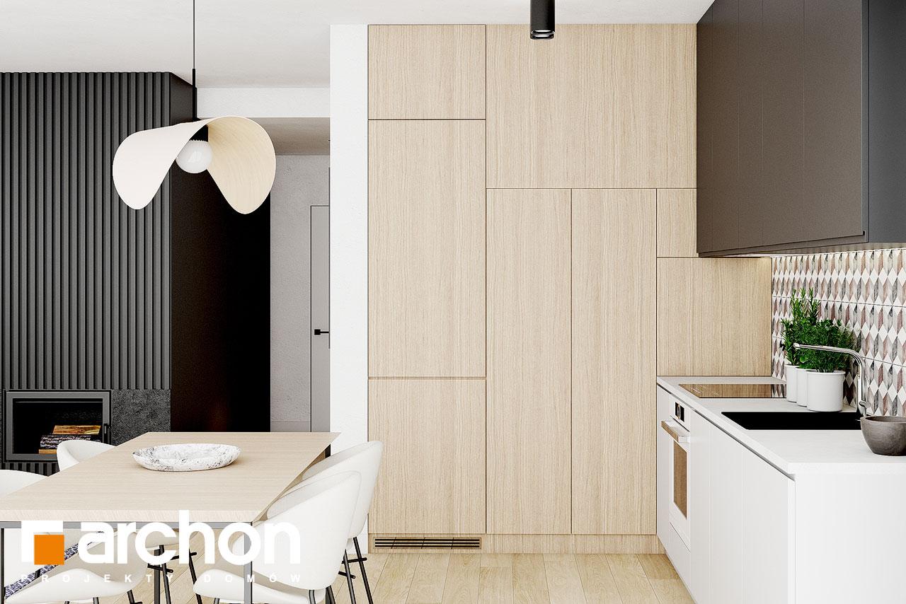 Проект дома ARCHON+ Летний домик в голокучнике визуализация кухни 1 вид 2