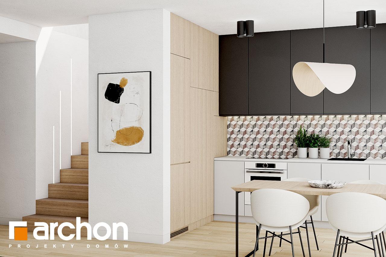 Проект дома ARCHON+ Летний домик в голокучнике визуализация кухни 1 вид 3