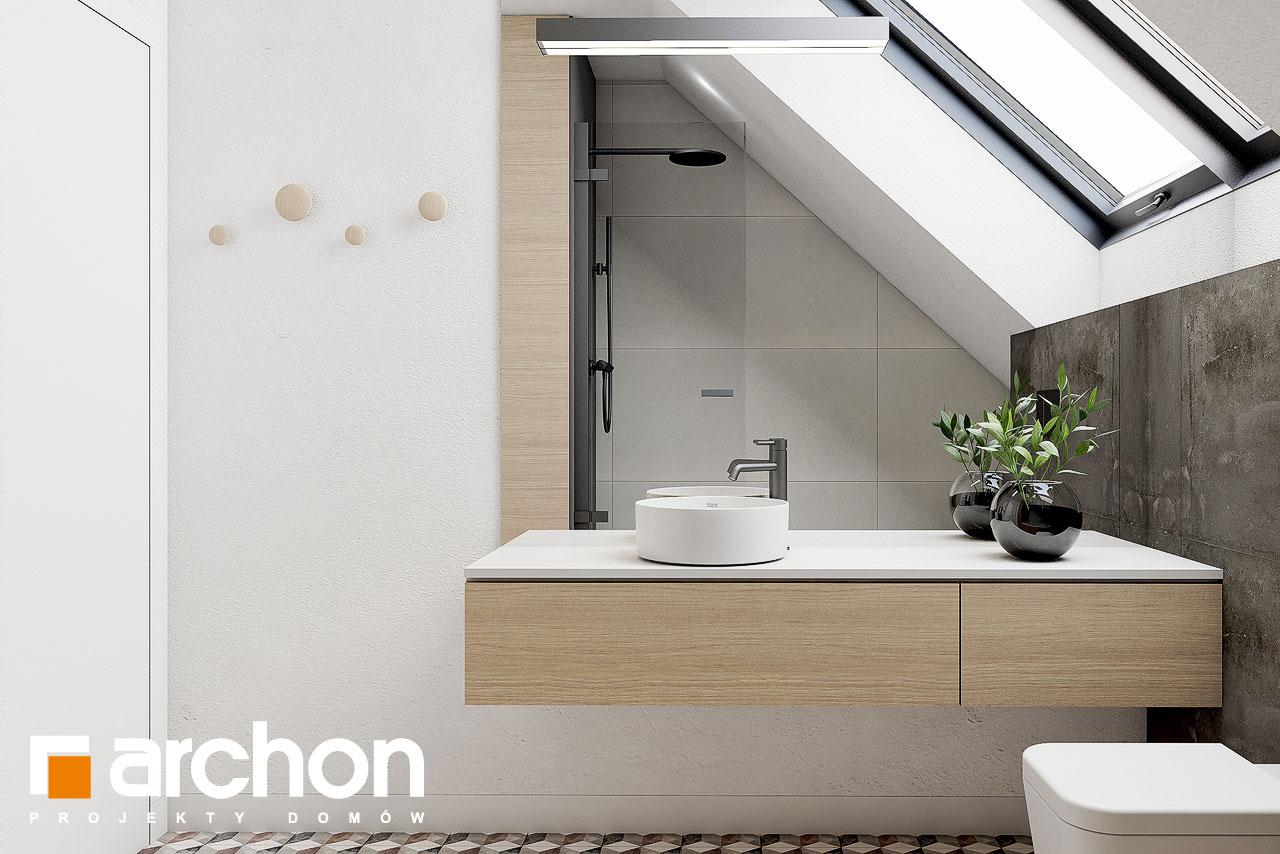 Проект дома ARCHON+ Летний домик в голокучнике визуализация ванной (визуализация 3 вид 1)