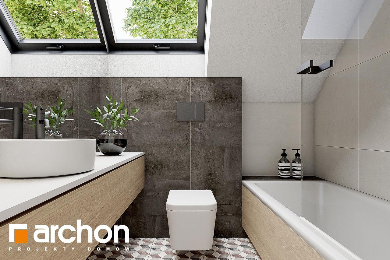 Проект дома ARCHON+ Летний домик в голокучнике визуализация ванной (визуализация 3 вид 2)
