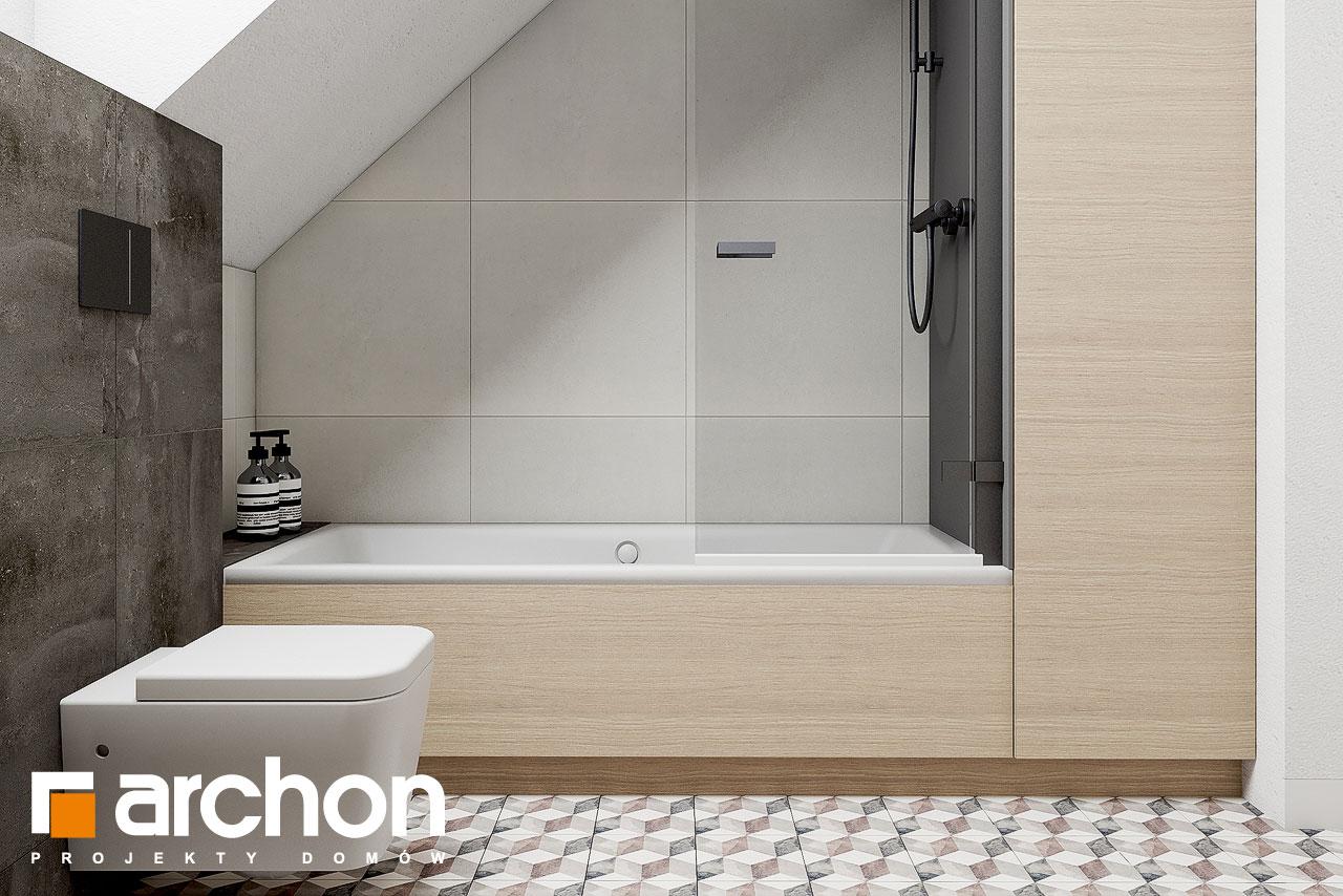 Проект дома ARCHON+ Летний домик в голокучнике визуализация ванной (визуализация 3 вид 3)