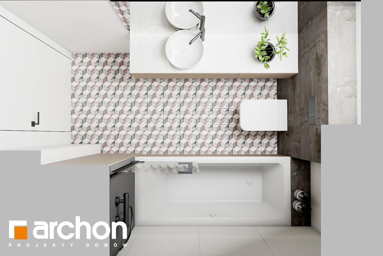 Проект дома ARCHON+ Летний домик в голокучнике визуализация ванной (визуализация 3 вид 4)