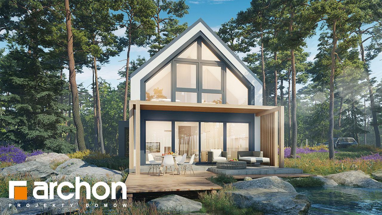 Проект дома ARCHON+ Летний домик в голокучнике Вид 2