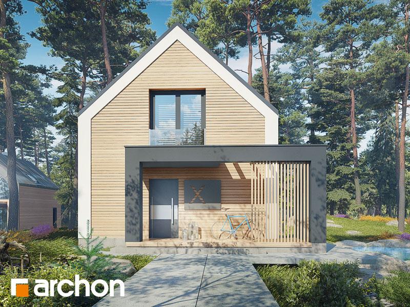 Проект дома ARCHON+ Летний домик в голокучнике Вид 1