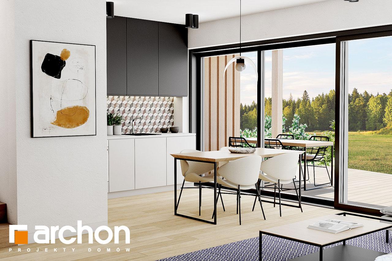Проект дома ARCHON+ Летний домик в голокучнике дневная зона (визуализация 1 вид 4)