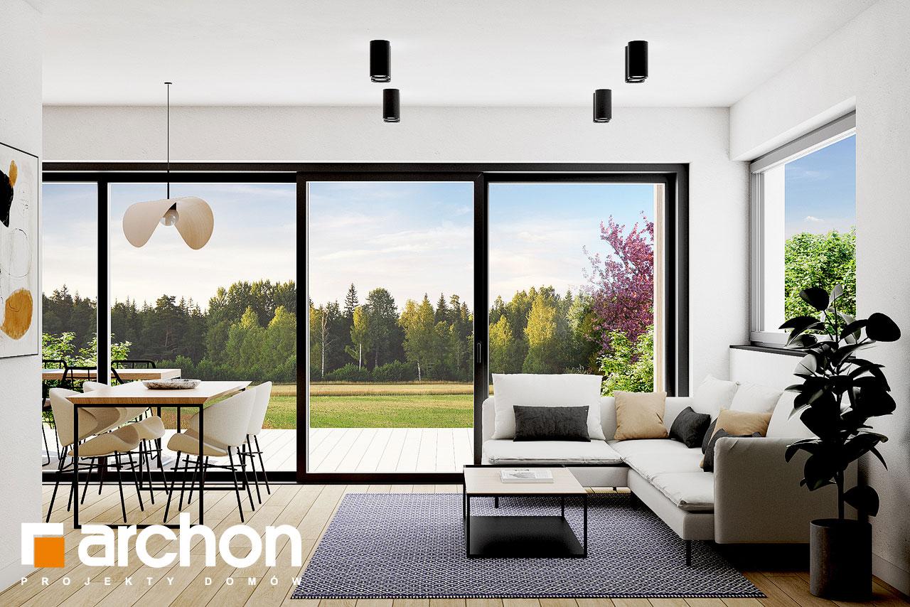 Проект будинку ARCHON+ Літній будиночок в голокупнику денна зона (візуалізація 1 від 5)