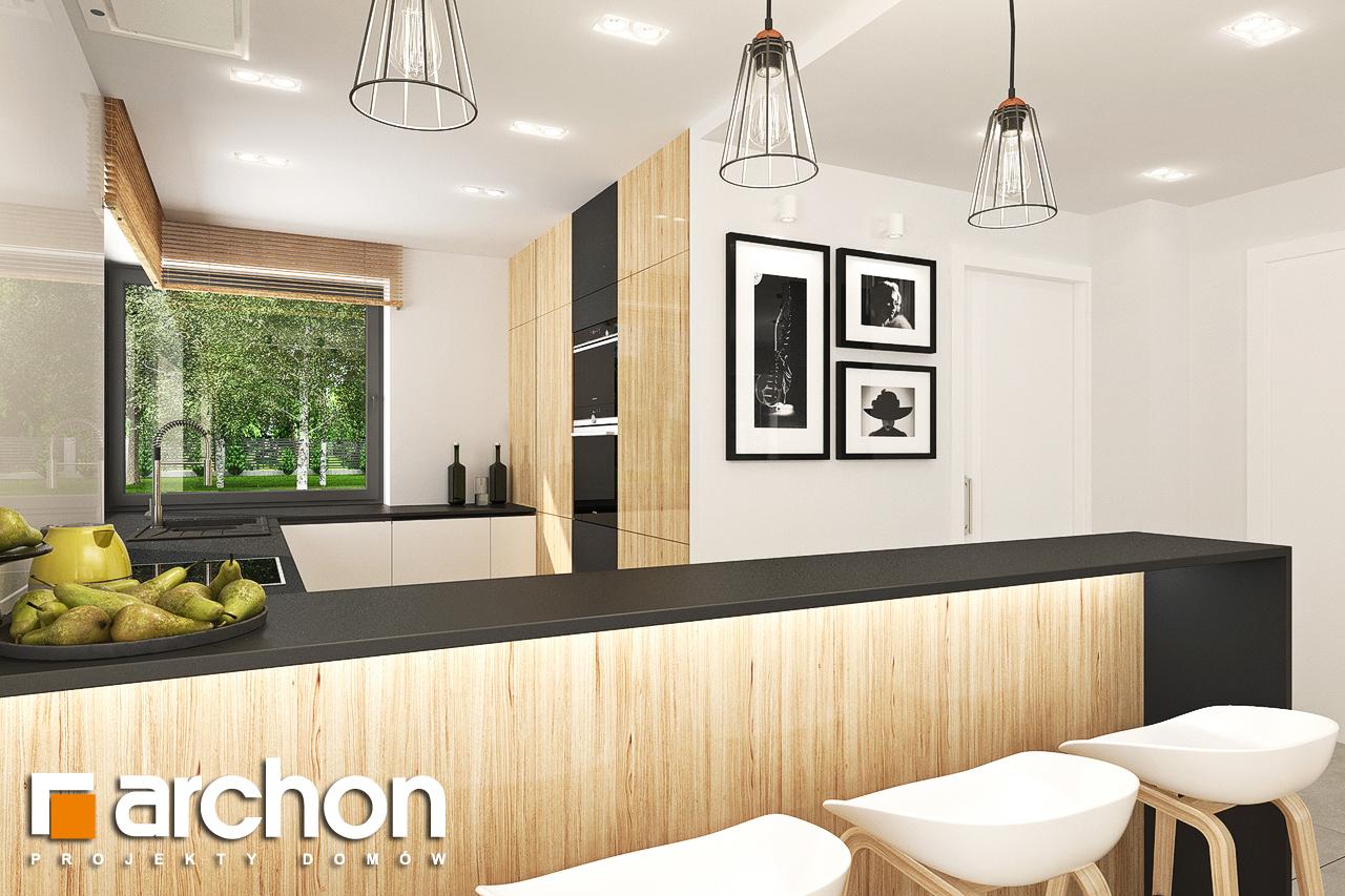 Проект будинку ARCHON+ Будинок у топазах візуалізація кухні 1 від 1