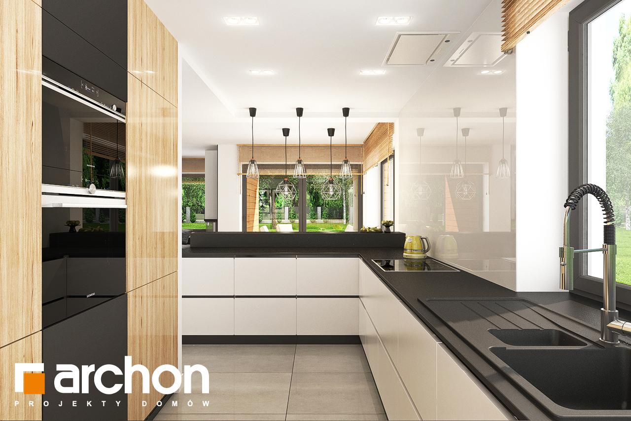 Проект будинку ARCHON+ Будинок у топазах візуалізація кухні 1 від 2